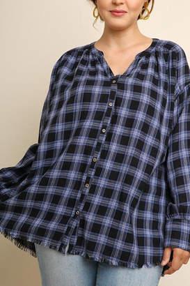 Umgee USA Mandarin Collar Buttondown