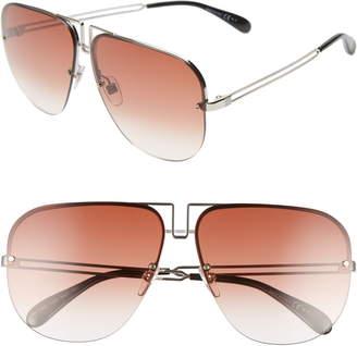 Givenchy 64mm Oversize Navigator Sunglasses