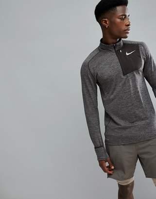 Nike Running Therma Sphere Element Half Zip Sweat In Brown 857829-202