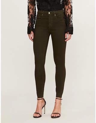 Good American Good Legs raw-edge slim-fit high-rise jeans