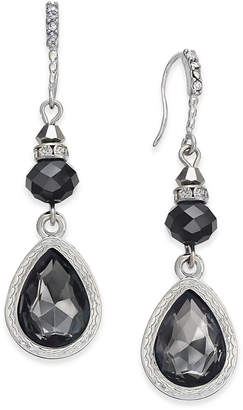 INC International Concepts I.N.C. Silver-Tone Jet Stone Drop Earrings, Created for Macy's