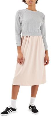 TOPSHOP Crisscross Back Midi Dress $80 thestylecure.com