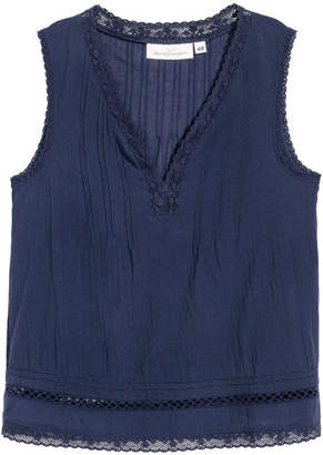 H&M Crinkled Cotton Top - Blue