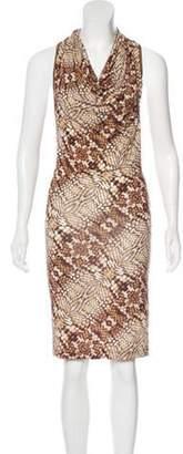 Just Cavalli Sleeveless Knee-length Dress Brown Sleeveless Knee-length Dress