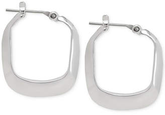 Kenneth Cole New York Silver-Tone Square Hoop Earrings