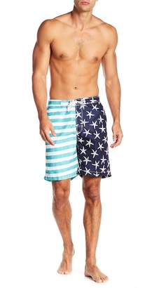 Trunks Surf and Swim CO. Swami Shorts Neon Flag Print