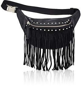 Little Remix Fringe Belt Bag-Black