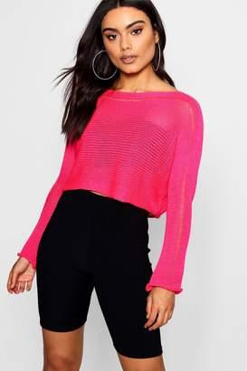 boohoo Neon Knitted Crop