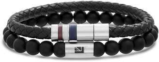 Ben Sherman Leather & Bead Bracelet Set