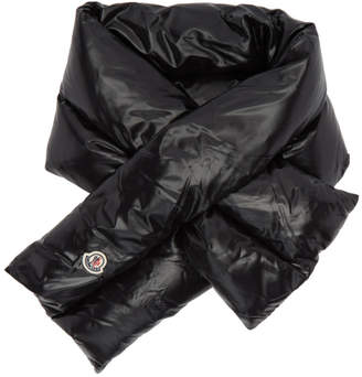 Moncler Black Down Scarf