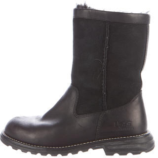 UGGUGG Australia Leather Round-Toe Ankle Boots