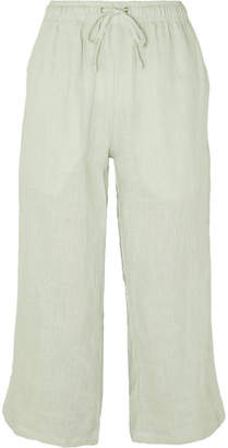 Faithfull The Brand Clemence Cropped Linen Pants - Sky blue
