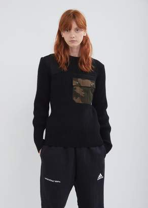 Gosha Rubchinskiy Camo Pocket Knit Sweater