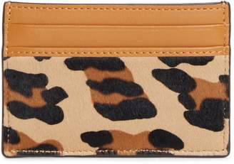 MCM Mini Leopard Calf Hair Card Case