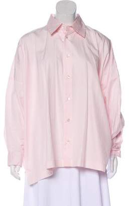 eskandar Oversize Button-Up Top