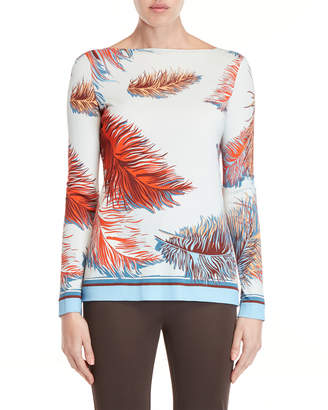 Emilio Pucci Printed Long Sleeve Jersey Top