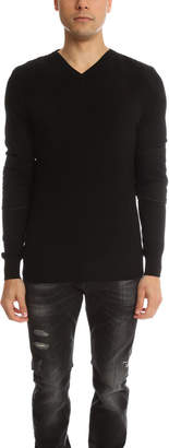 Pierre Balmain Quilted V Neck Sweater