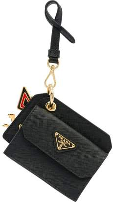 Prada coin purse keychain
