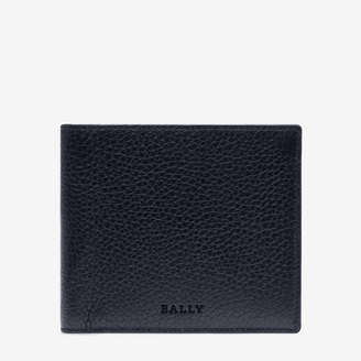 Bally Strasai Blue, Men's leather wallet in ink