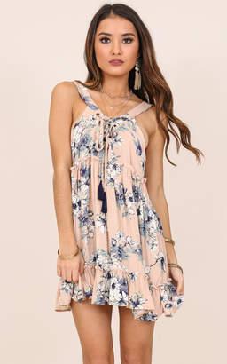 Showpo Summer Surrender tunic in blue floral