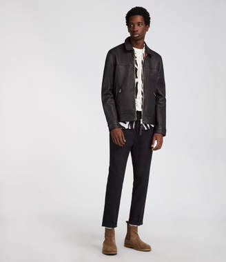 AllSaints Hayne Leather Jacket
