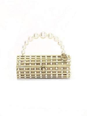 Rosantica Women's Medea Faux Pearl-Embellished Box Clutch