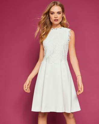 Ted Baker LEXIIE Lace bodice structured dress
