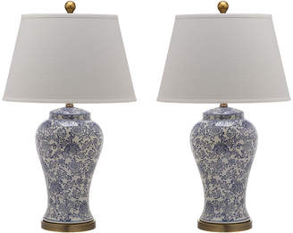 Safavieh Spring Blossom Urn-Shaped Table Lamps, Set of 2