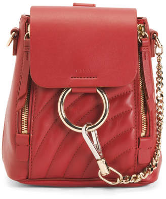 Made In Italy Faye Quilted Mini Leather Backpack