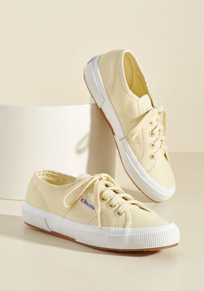 Superga Active Kindness Sneaker in Buttercream in 10 $38.99 thestylecure.com