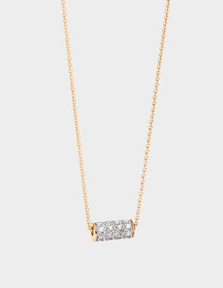 ginette_ny Mini Straw Diamond 18-karat rose gold necklace