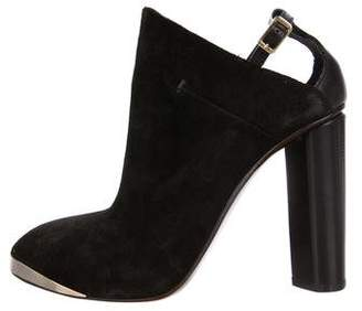 CNC Costume National Embellished Suede Booties