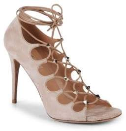 Valentino Studded Suede Strappy Sandals