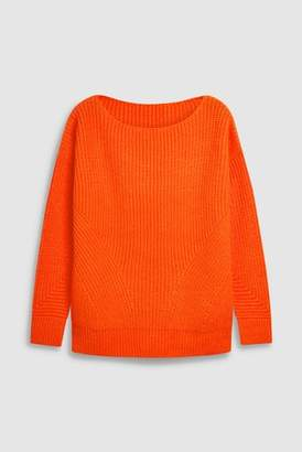 Next Womens Pink Neon Ribbed Sweater