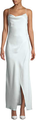 Camilla And Marc Bowery Cowl-Neck Slip Gown, Light Green