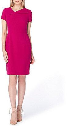 Tahari ASL Envelope Neckline Crepe Shift Dress $118 thestylecure.com