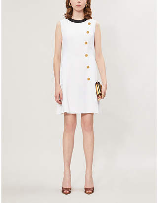 Versace Round-neck sleeveless crepe mini dress