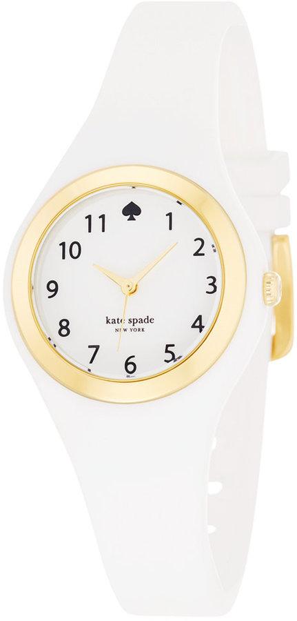 Kate Spadekate spade new york Women's Rumsey White Silicone Strap Watch 30mm 1YRU0793