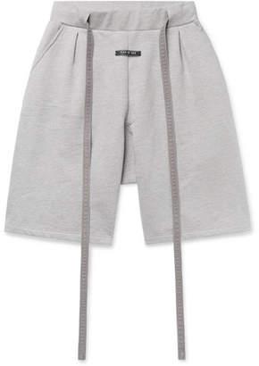 Fear Of God Corduroy-Trimmed Fleece-Back Cotton-Jersey Drawstring Shorts