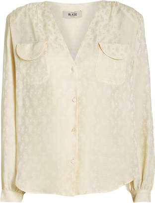 BLAZÉ MILANO Andalusian Silk Button Down Blouse