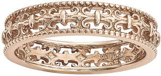 JCPenney FINE JEWELRY Personally Stackable 18K Rose Gold Over Sterling Silver Fleur-de-Lis Ring