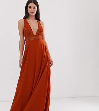 Asos Tall DESIGN Tall sleeveless maxi dress with lace bodice