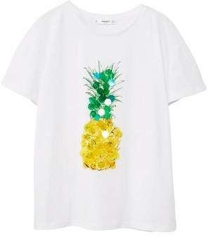 MANGO Sequin print t-shirt
