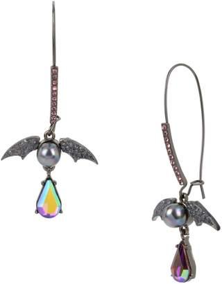 Betsey Johnson Dark Magic Crystal Drop Earrings