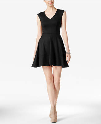 Bar III Cap-Sleeve Fit & Flare Dress, Created for Macy's