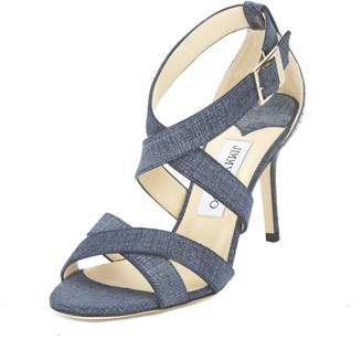 Jimmy Choo Denim Leather Louise Sandal, Size 36.5 (New with Tags)