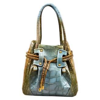Salvatore Ferragamo Blue Exotic leathers Handbags