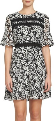 Women's Cece Alayna Floral Fit & Flare Dress $138 thestylecure.com