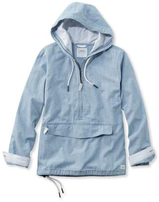 L.L. Bean L.L.Bean Vacationland Anorak Pullover, Chambray Long-Sleeve