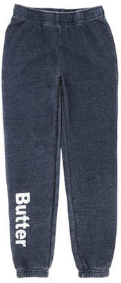 Butter Shoes Burnout Fleece Varsity Logo Sweatpants, Size S-XL